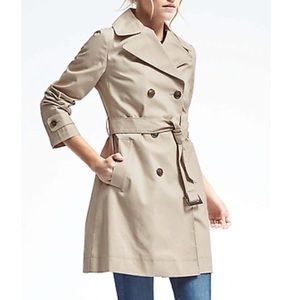 NWT Banana Republic Dbl-Breasted Belted Trench